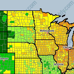 USA National Gas Price Heat Map How does your county line up in the gas prices?