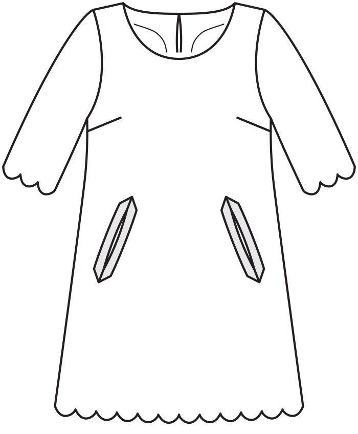 Dress-line z girlandy - numer wzorca 120 Magazine 12/2015 Burda - wzory na sukienkach Burdastyle.ru