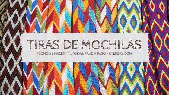 Tutorial #128: Tiras, Fajones o Gasas de Mochilas Wayúu | CTejidas [Crochet y…