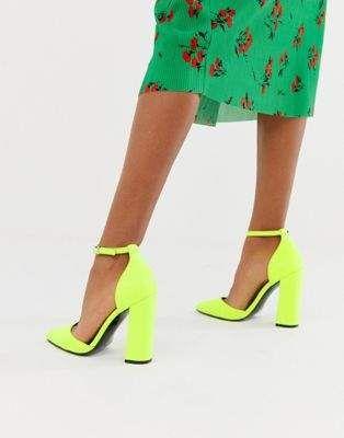68661651500 Neon Yellow Heels