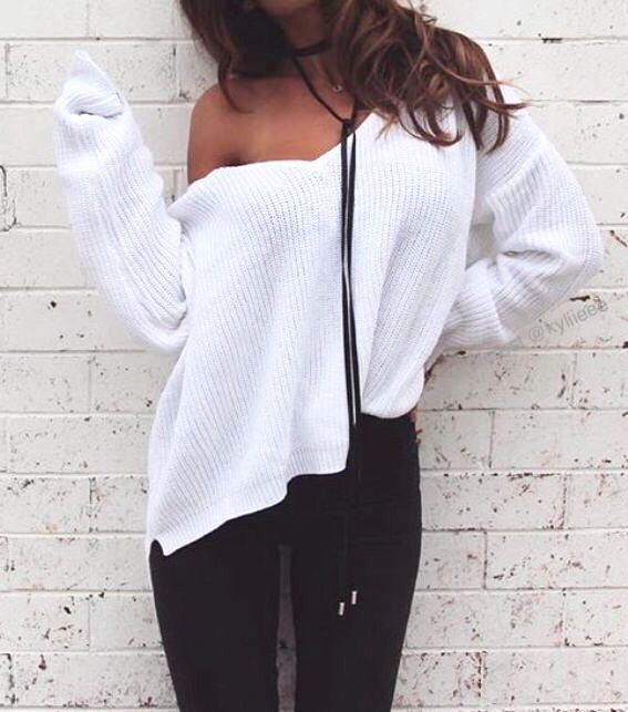 ee60c055b3 Best 25 Off shoulder sweater ideas on Pinterest