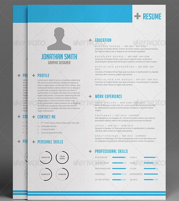 37 best Resumes images on Pinterest Resume templates, Design - simple resume template microsoft word