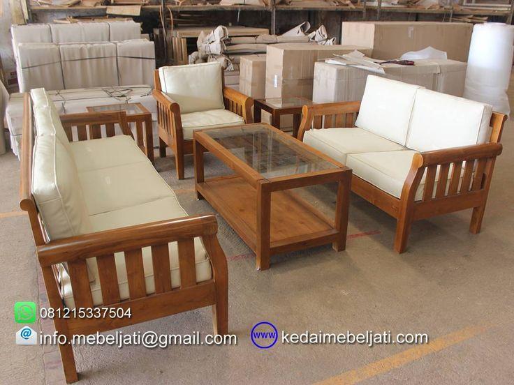 Sofa ruang tamu jati set andrea.  Bahan : kayu jati grade B.  Finishing : natural warna kayu.  Set 3 2 1 dudukan + meja kopi.  Harga : kontak kita atau tinggalkan komentar untuk harga yg up to date ya.  Kontak : Zulham efendi Hp/watsapp : 081215337504 Office : 02914298079 Email : info.mebeljati@gmail.com Homepage : kedaimebeljati.com  Tags : #SofaTamu #SofaMinimalis #SofaJati #KursiTamuMinimalis #SetKursiTamu #KursiTamuJati #MejaTamuMinimalis #MebelJatiMinimalis #MebelJatiJepara #MebelJepara…
