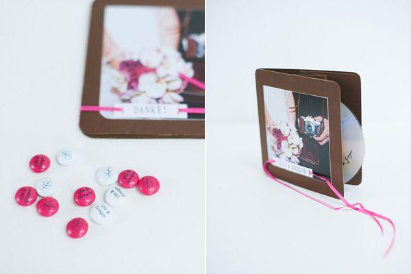 DIY Hochzeit Papeterie pink braun13