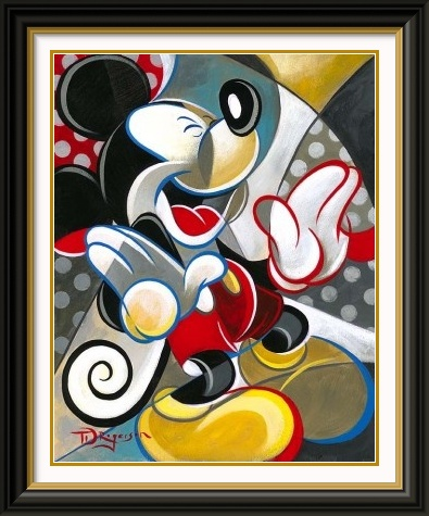 Mickey mouse knee slapper original by tim rogerson presented by world wide art