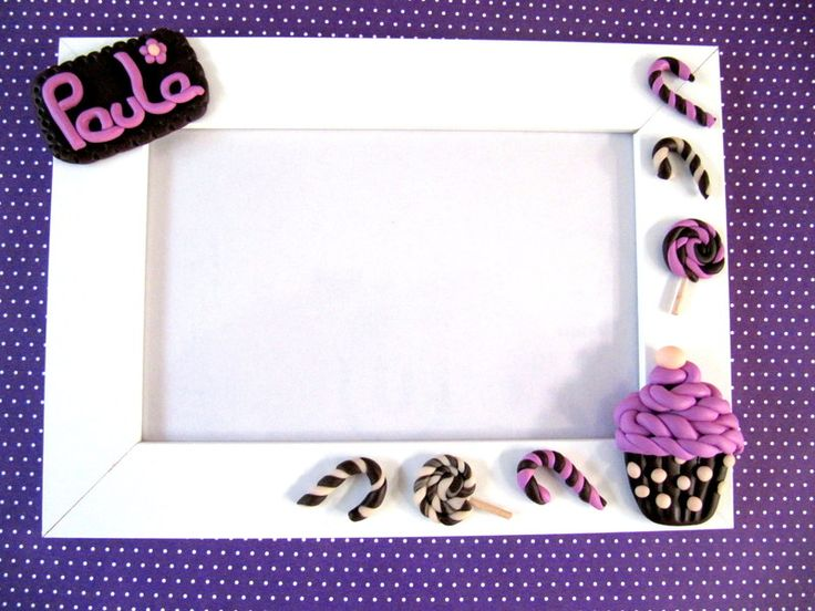 Personalisierte Bilderrahmen Cupcake von EL MUNDO DE PAULA auf DaWanda.com