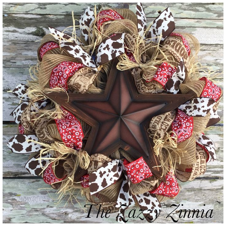Western Star Cowboy Wreath