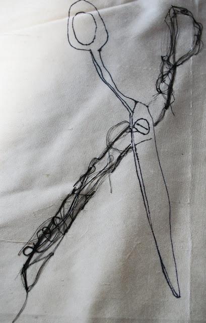 embroidered scissors | lisa wilcockson