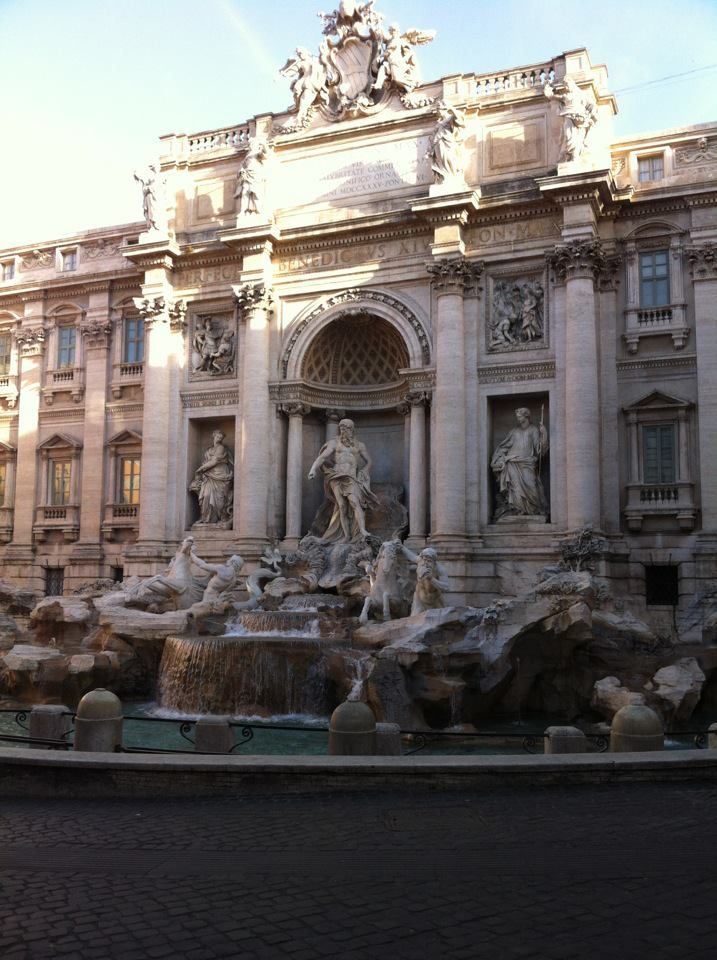 Trevi Fountain, Rome, Italy Fun Fact: This Was Under Construction When I Went To Go See It So I Ended Up Throwing My Coin Over 30 Yards To Make My Wish