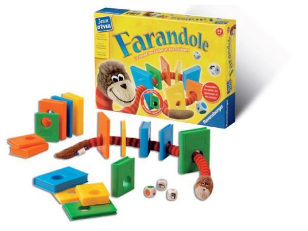 Farandole - Différenciez les tailles, épaisseurs et couleurs toute en s'amusant avec Oliver le petit ver.