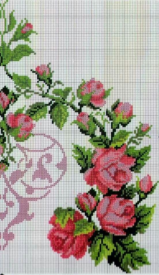 Mejores 115 im genes de jardin punto de cruz en pinterest - Punto jardin ...