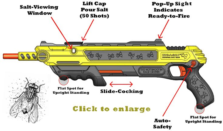 Bug-a-salt: a salt powered shotgun to get rid of bugs and insects.