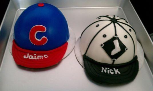Cubs sox baseball cake
