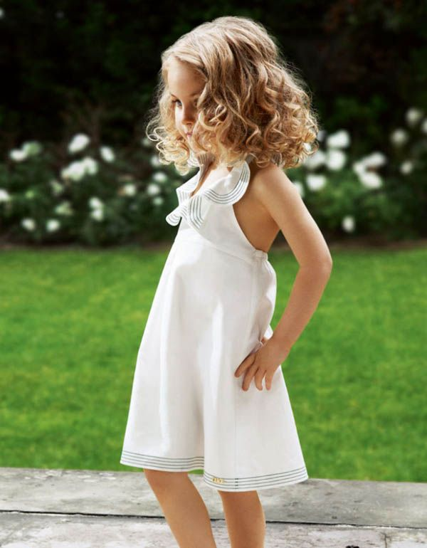 Kids clothing is becoming more adult like. Scary! I'd wear this dress if it were my size. lol