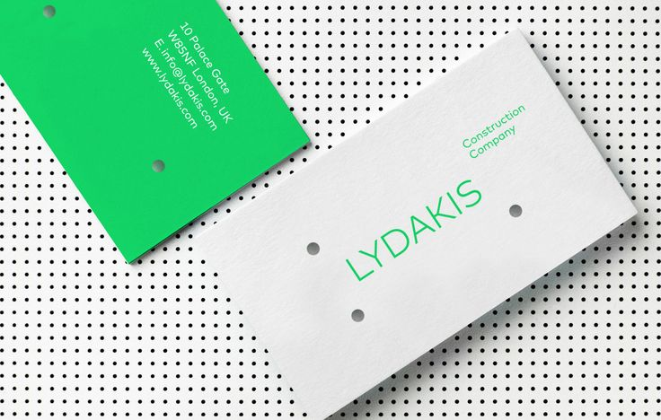 Lydakis Construction Co. Identity by Alexandros Gavrilakis http://mindsparklemag.com/design/lydakis-construction-co-identity/