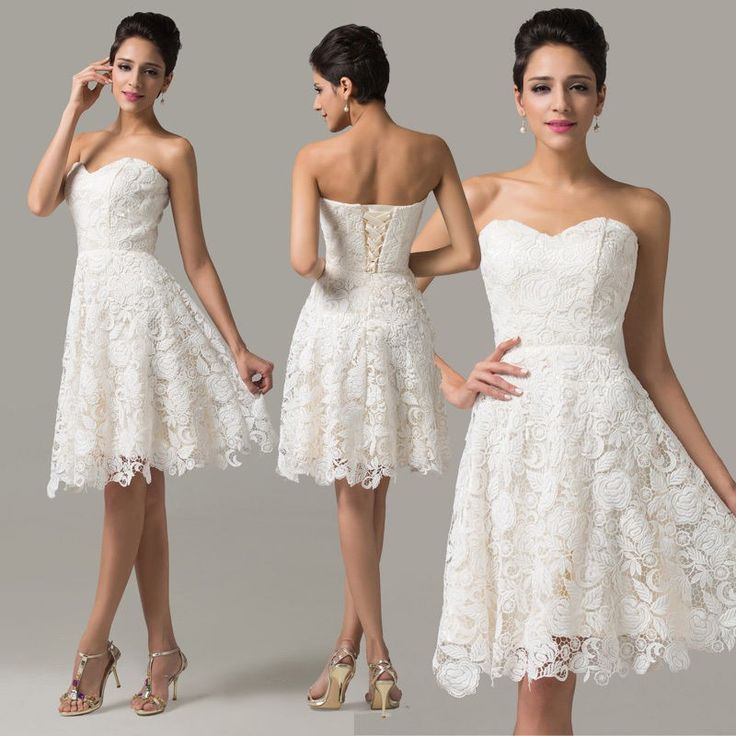 Luxury cocktail dress with lace