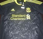 For Sale - LIVERPOOL AWAY BLACK SIGNED FOOTBALL SHIRT, SOCCER JERSEY, GERRARD, TORRES - See More at http://sprtz.us/LFC-EBay