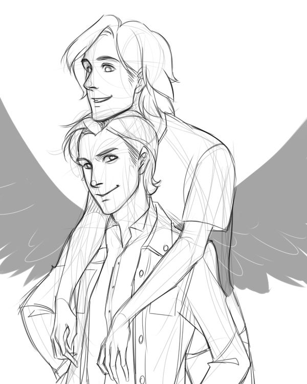 sabriel by the art of doro. I DONT UNDERSTAND THIS SHIP BUT FOR SOME REASON I FIND IT INFINITELY ADORABLE AND NOW I SHIP IT.