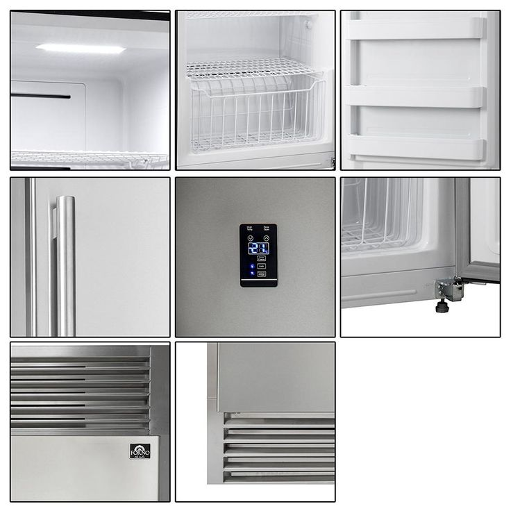 Forno 60 In W 27 6 Cu Ft Free Standing Side By Side Style 2 Doors Refrigerator And Freezer In Stainless Steel Ffffd1933 60s The Home Depot Side By Side Refrigerator Interior Led Lights