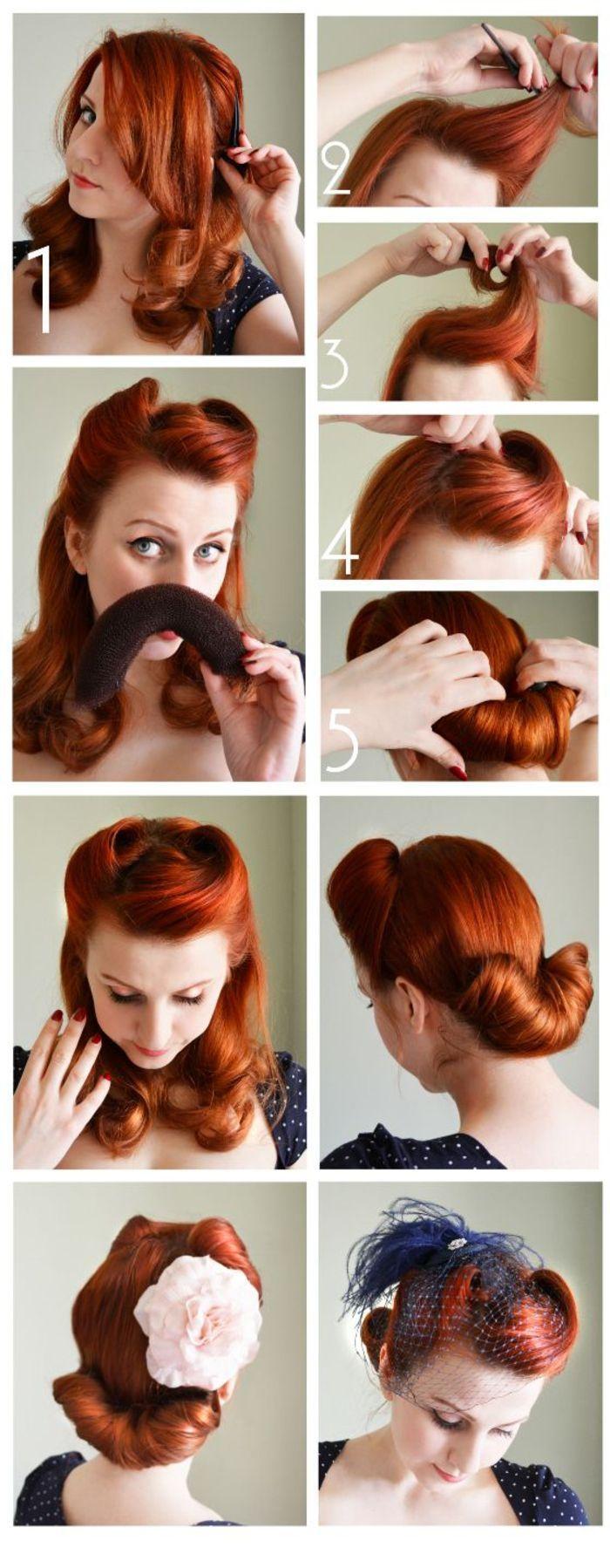 Die Rockabilly Frisur Durch Den Blick Der Modernen Frau Frisurentrends Zenideen Rockabilly Frisur Banane Frisur Vintage Hochzeit Frisuren