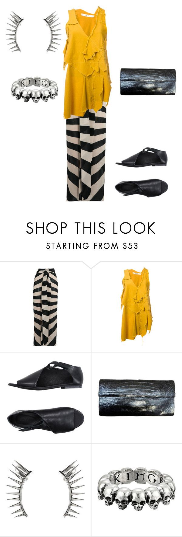 """Untitled #517"" by jessica-uyvette-thompson ❤ liked on Polyvore featuring Gareth Pugh, DAMIR DOMA, SILENT by Damir Doma, Nancy Gonzalez, Latelita and King Baby Studio"