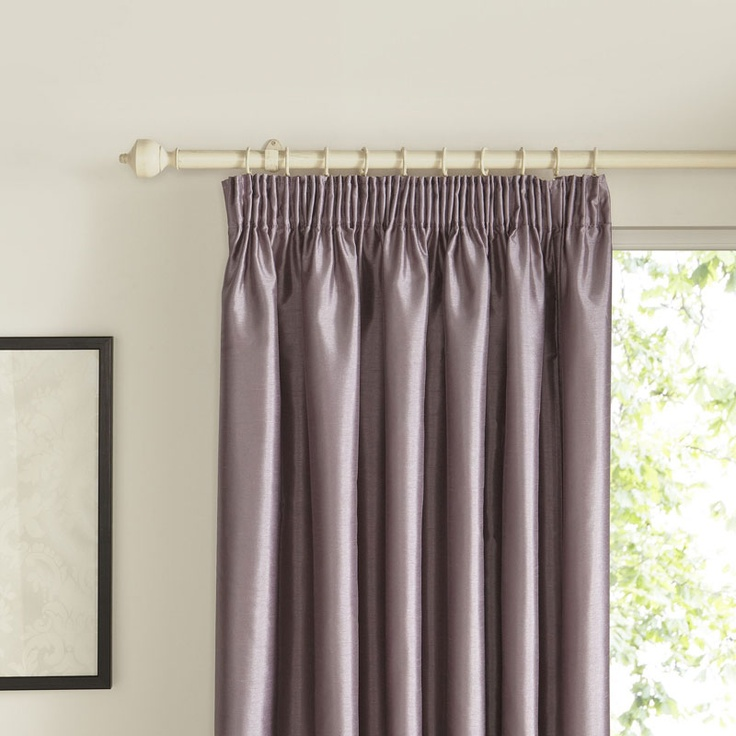 These Villula faux silk wisteria pencil pleat curtains come in a sumptuous wisteria tone. Perfect for a more heritage look.
