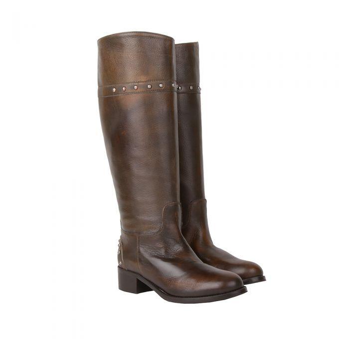 Giemme Кожаные простые темно-коричневые сапоги от бренда Giemme
