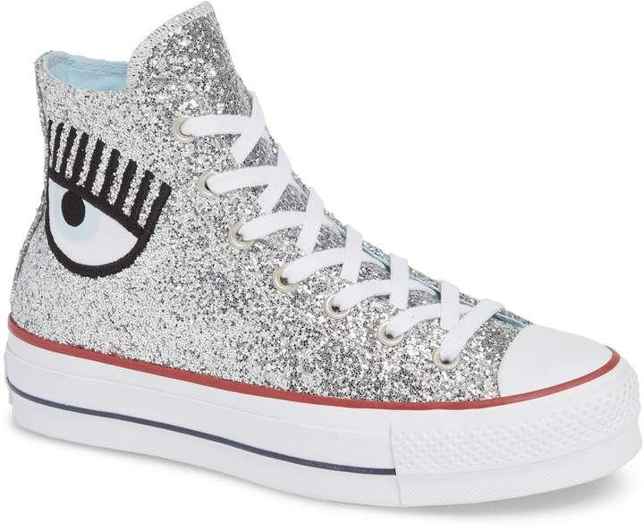 Chaussures femme Converse Chiara Ferragni Glitter noires