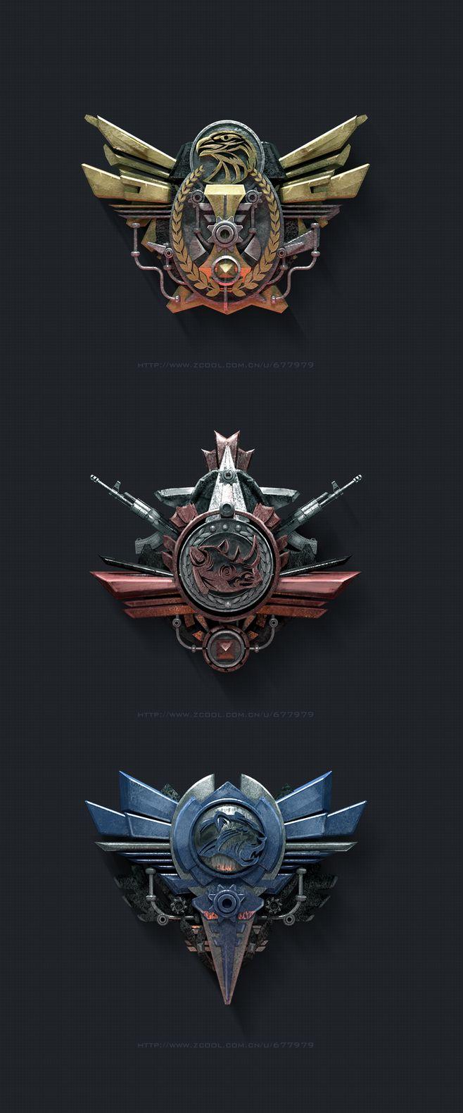 军事徽章图标 |GAMEUI- 游戏设计...