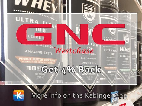 New on the app! GNC Westchase is giving back 4% to you on every purchase! @gncwestchase
