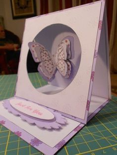 Butterfly Hanging Easel Card · How To Make A Greetings Card ...