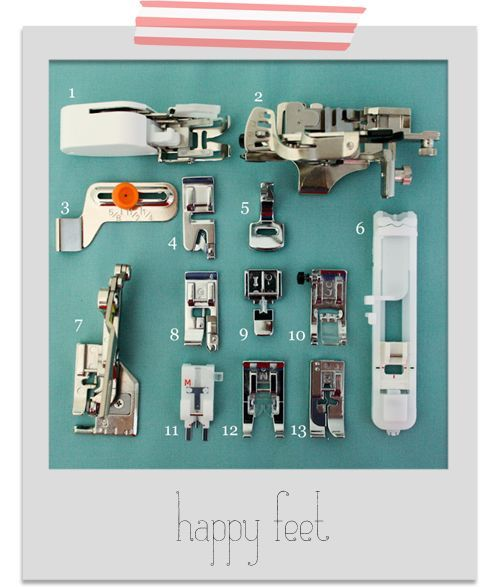 Finding Your Feet: sewing machine feet and their uses This is amazing,you can learn everything about the different feet for your sewing machine and their uses,