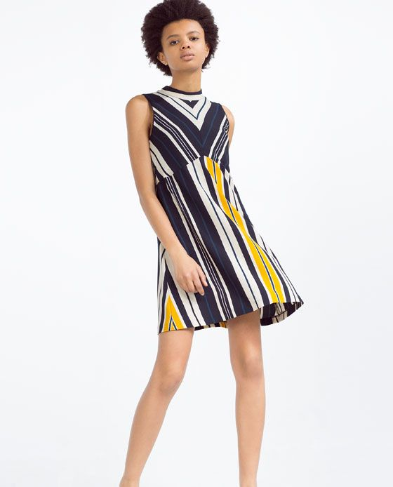Image 1 of A-LINE STRIPED DRESS from Zara