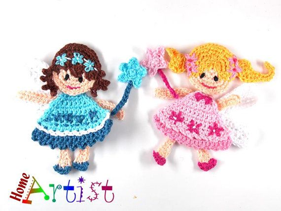 Listing is for 1 figure shown, a crochet embellishment, mix of colors.  Height…
