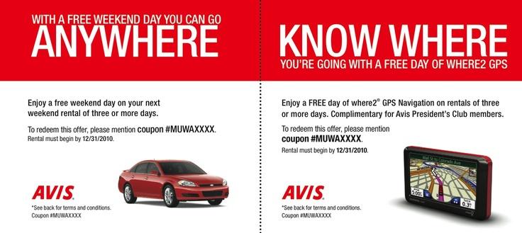 Great Direct Mail Pieces: Avis Car Rental