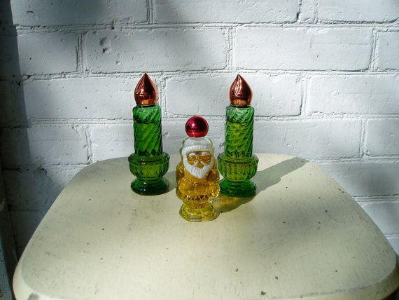Avon collectable colonge bottles -Christmas collectables -Avon perfume _vintage Avon bottles -retro set of three Avon -vintage Avon
