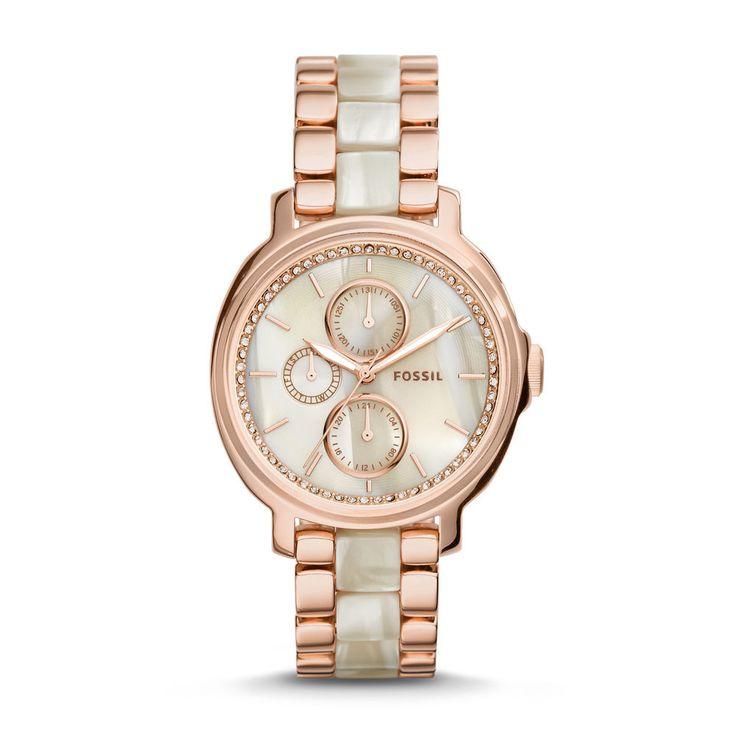 fossil women 39 s watch es3890 chelsey multifunction rose. Black Bedroom Furniture Sets. Home Design Ideas
