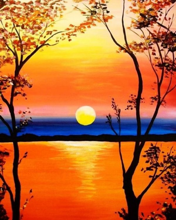 65 Simple And Beautiful Acrylic Painting Ideas For Beginners Hercottage Beginner Painting Painting Wallpaper Easy Canvas Art