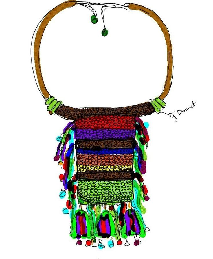 This is a sketch of one of my pieces of Curiepe collection!  #fashion #ethnic #design #fashionsketch #necklace #accessories #colorful #unique #mcdesigns #handmade #colombia #venezuela #thetropics