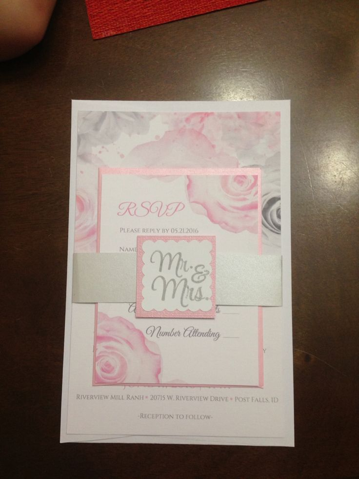 Vistaprint invitations with homemade paper wrapper