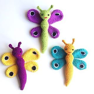 Hæklede sommerfugle! #amigurumi #hæklededyr #lityfa