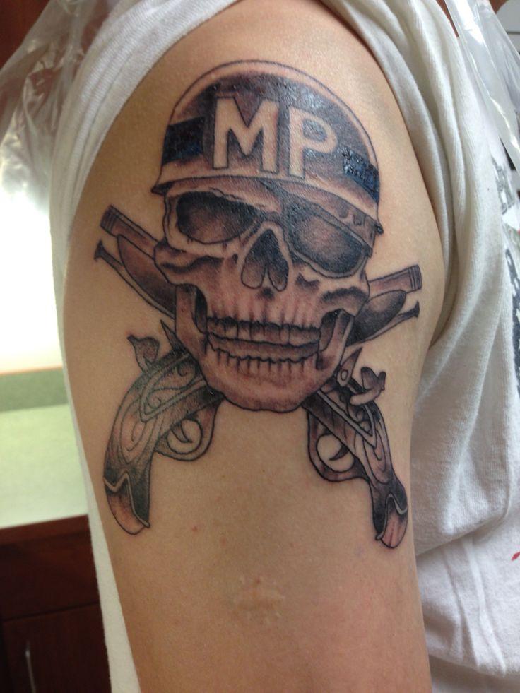 Military police tattoo | Skull tattoo, Tattoos, Police tattoo