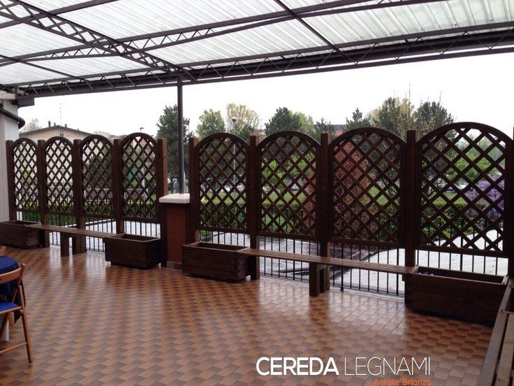 griglie in legno per  balconi