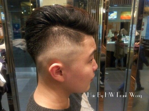 Scalp fade all back mans style