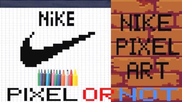 Dessin Facile Comment Dessiner Facilement En Pixel Art Le Logo Nike Ce Dessin Peut Etre Realise Par Un Enfant Et Par Tous Pixelart Comment Dessiner Pixel Art Pixel Drawings