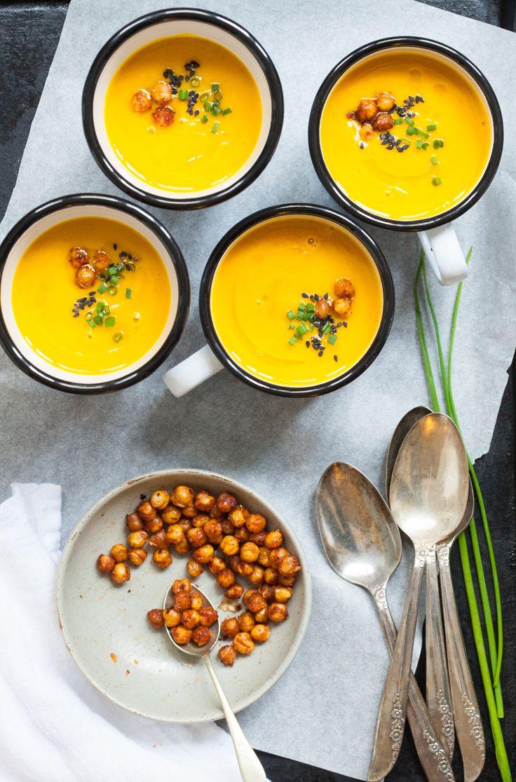 Kabocha Squash Soup with Harissa and Orange | www.80twenty.ca