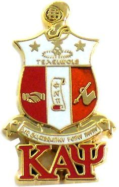Bow Ties and More.com - Kappa Alpha Psi Fraternity Shield Greek Letters Lapel Pin