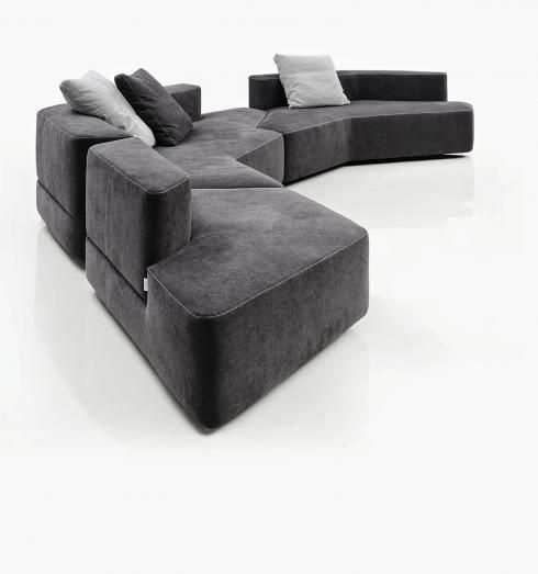 750 best 08A-家具 Sofa images on Pinterest Canapes, Couches and - contemporary curved sofa