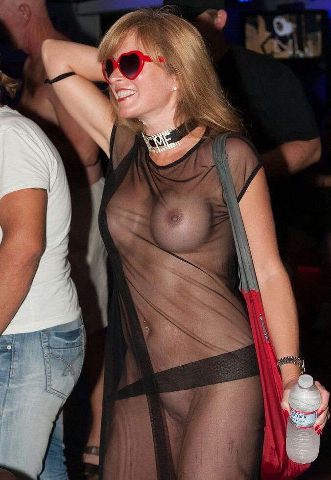 girls almost naked in public