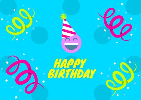 Happy Birthday Blau Poster Tag Design Alles Gute Geburtstag